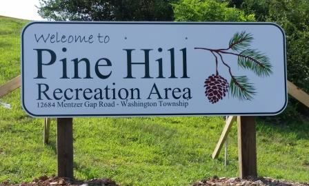 2015 NEW Pine Hill Pk SIGN