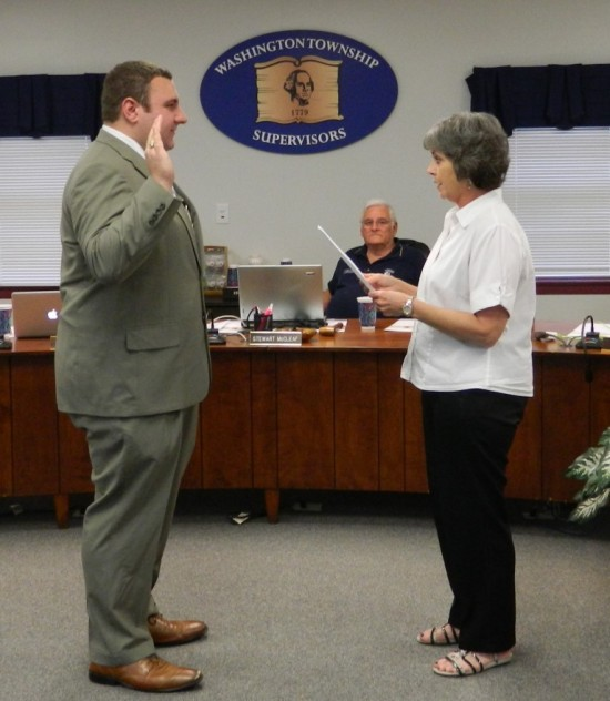 2015-08-03 Chad Reichard swearing in